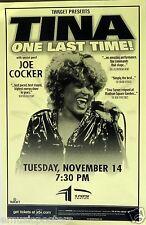 """TINA TURNER/ JOE COCKER 2000 """"ONE LAST TIME TOUR"""" DENVER CONCERT POSTER"""
