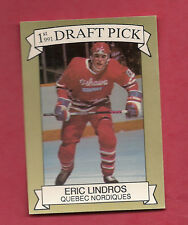 1990-91 NORDIQUES ERIC LINDROS  # 1 DRAFT PICK /10000 LIMITED NRMT+ (INV#2700)