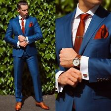 Men's Navy Formal Suits Wedding Groom Groomsmen Party Tuxedos Business Prom Suit
