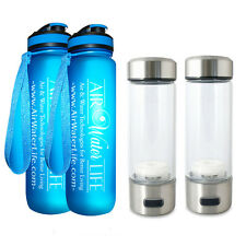 Combo!! 2  Aqua Magic H2 Hydrogen Bottle Booster + 2 Water Bottle