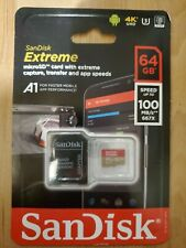 Sandisk 64GB Extreme Flash Memory Card Micro SD UHS-I Model SDSQXVF-064G-AN6MA