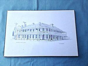 Criterion Hotel Pencil Drawing Picture Board Print 15x10 Victoria Australia Sign
