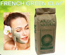 Organic FRENCH GREEN CLAY Powder Face skin Mask 1Kg 2.2LB THE CHEAPEST ON EBAY!