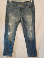 Maurices Floral Distressed Jeans Size 9/10 Reg