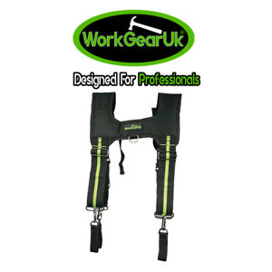 WorkGearUK Tool Belt Braces Padded 4 Belt Loops Included - WG-HDB06