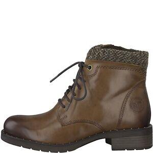 Marco Tozzi 2-25203-21-372 Cognac Leather Ladies Boots Sizes 4,5,6,6.5,7