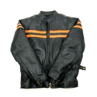 USA BIKERS DREAM APPAREL Jacket Size M-L Motorcycle Black Leather Thinsulated