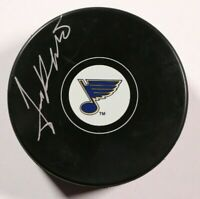 St. Louis Blues Jim Roberts Signed Autographed Puck Auto NHL Beckett COA Jimmy