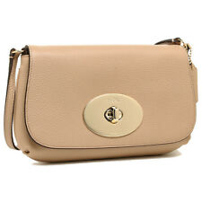 NWT Authentic Coach Tan Turnlock Crossbody Pouch Purse