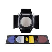 NiceFoto SN-12 Barn Door Filter Kits Elinchrom Mount for Standard Reflector 230m