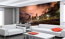 Chicago City Skyline at Night Wall Mural Photo Wallpaper GIANT DECOR Paper Poste