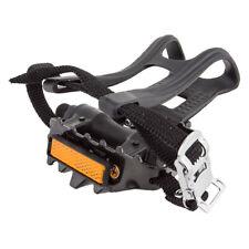 Sunlite Low Profile Plastic ATB w/ Toe Clip Pedals Mtb Pl/stl Wclp&strps9/16