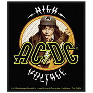 AC/DC High Voltage Heavy Metal Woven Sew-On Patch NEW