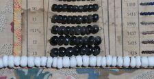 Antike Glasperlen Kreideweiß um 1900 - Antique Chalk White Glass Crow beads