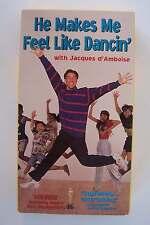 He Makes Me Feel Like Dancin VHS Jacques d'Amboise