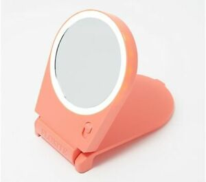 Floxite 5x Magnifying Lighted Home and Travel Mirror