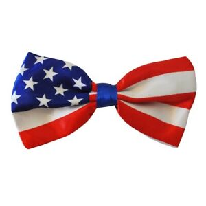 Mens USA Flag Bowtie Bow Tie American United States Stars And Stripes Party Gift