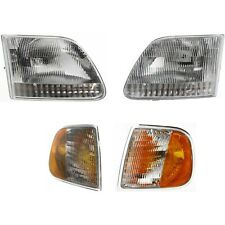 Headlights 4pc Set With Corner Light Set Fits Ford F150 Expedition Lightning Style Fits 1997 Ford F 150