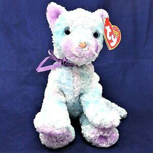 Ty Beanie Babies Kitten JAZ 2003/4 Plastic nose Blue Pink Silky Cat Cuddly Toy