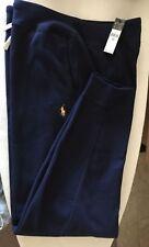 "Mens Ralph Lauren Navy Blue Cotton Sweatpants Lounging Pants XXL 2XL $98 30"" In"