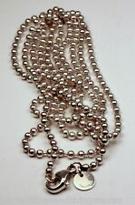 """TIFFANY & CO. BEAD NECKLACE 34"""" Long Sterling Silver  AUTHENTIC"""