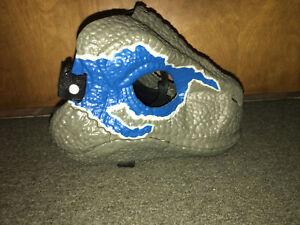 Jurassic World Legacy 2018 BLUE VELOCIRAPTOR MASK Moveable Jaw Raptor Dinosaur