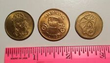 Vintage tokens lot of 3 different parking and gaming circulated