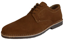 Hush Puppies Mens Tan Real Suede Retro Mod Desert Shoes