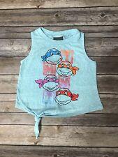 Kids Girls TMNT Teenage Mutant Ninja Turtles Aqua Blue Shirt Top XS, S, M, L, XL