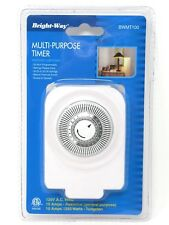 Bright Way Multi Purpose Timer Indoor Lighting 24 Hour Programmable