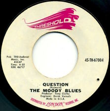 """THE MOODY BLUES Question/Candle Of Life 7"""" 1970 Threshold VG+"""