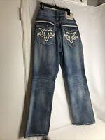 MEK DNM Mens Jeans Button Fly Front 34x34 Brisbane Straight