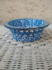 STANGL BLUE TOWN & COUNTRY RIMMED BOWL