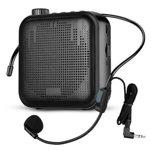 Portable Mini 12W Voice Amplifier Microphone Loundspeaker Waistband for Outdoor
