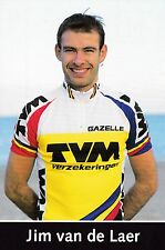 CYCLISME ** carte cycliste JIM VAN DE LAAR équipe  TVM