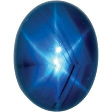 Natural Fine Blue Star Sapphire - Oval Cabochon - AAA Grade - Unheated, Untreate
