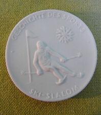 Meissen DDR Medaille - Geschichte des Sports - Ski-Slalom