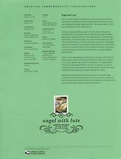 #4477 44c Angel with Lute USPS #1024 Souvenir Page