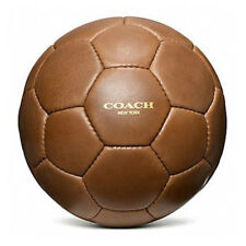 COACH Glove Tanned Leather Soccer Ball Balon de Futbol World Cup Regulation  FIFA f5c819a8b3a17