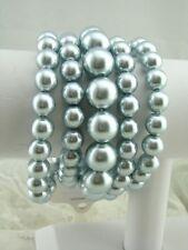 Bracelet Set Fashion Jewelry New Chunky Five Piece Grey Pearl Stretch