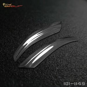 Real Carbon Fiber Eyebrows Eyelids Headlight Covers Trim for Saab 9-3 2002-2006