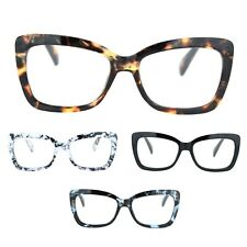 Womens Rectangle Butterfly Shape Plastic Fashion Reading Glasses