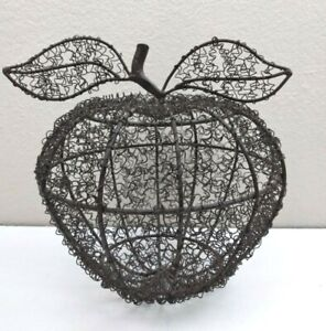 Metal Wire Apple Fruit Decor Large 9''