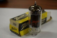 7695 ZENITH VINTAGE TUBE WITH BLACK PLATES - NOS IN BOX