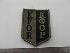 ^(A4-088) Bundeswehr KFOR Stoffabzeichen oliv