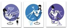 "SHAG Josh Agle ""Tipsy"" Serigraph Set Unframed Art Print Mint Tiki Cocktail COA"