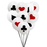 10pcs Spades / Cuori / Club / Diamanti Palloncini in lattice Carte da gioco CRIT