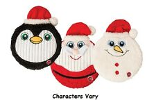 """Flat Jax Holiday Dog Toy 10"""" Large Squeaker Disc Christmas Theme Characters Vary"""