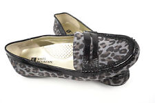 White Mountain Slip On Shoes Women's US 5.5M Cheetah Leather Upper Penny Loafers