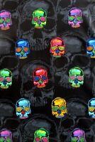 Skull Fabric, Head Trip, BTY, Alexander Henry